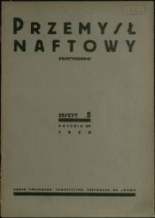 Przemysł Naftowy : 1939 : nr 5