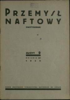 Przemysł Naftowy : 1939 : nr 9