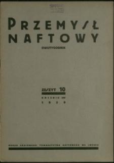 Przemysł Naftowy : 1939 : nr 10