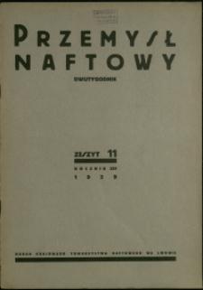 Przemysł Naftowy : 1939 : nr 11