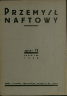 Przemysł Naftowy : 1939 : nr 13