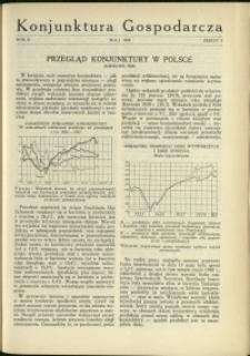 Konjunktura Gospodarcza : 1929 : nr 5