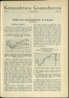 Konjunktura Gospodarcza : 1929 : nr 9