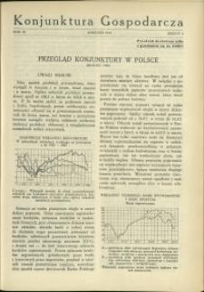 Konjunktura Gospodarcza : 1930 : nr 4
