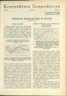 Konjunktura Gospodarcza : 1930 : nr 5