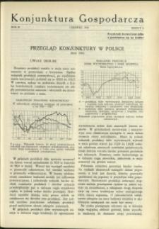 Konjunktura Gospodarcza : 1930 : nr 6