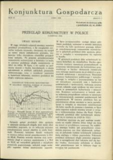 Konjunktura Gospodarcza : 1930 : nr 7