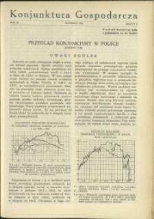 Konjunktura Gospodarcza : 1930 : nr 9
