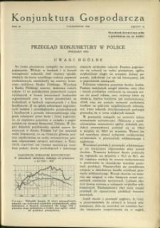 Konjunktura Gospodarcza : 1930 : nr 10