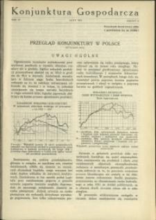 Konjunktura Gospodarcza : 1931 : nr 2