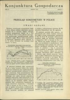 Konjunktura Gospodarcza : 1931 : nr 3