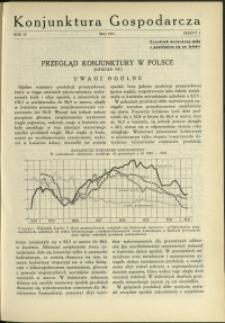 Konjunktura Gospodarcza : 1931 : nr 5