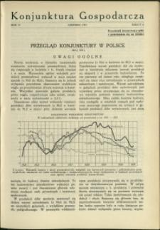 Konjunktura Gospodarcza : 1931 : nr 6