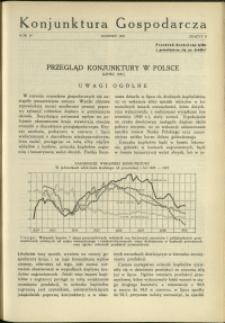 Konjunktura Gospodarcza : 1931 : nr 8