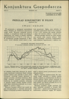 Konjunktura Gospodarcza : 1931 : nr 9