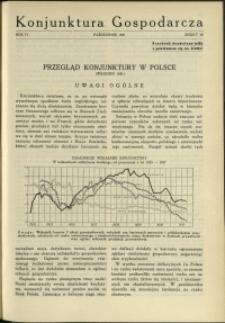 Konjunktura Gospodarcza : 1931 : nr 10