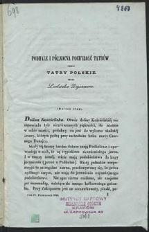 Podhale i północna pochyłość Tatrów czyli Tatry Polskie