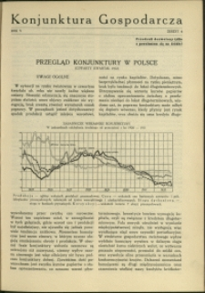 Konjunktura Gospodarcza : 1932 : nr 4
