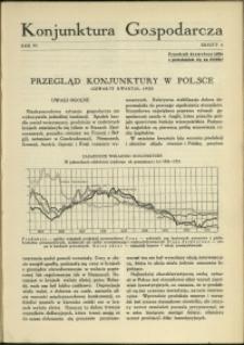 Konjunktura Gospodarcza : 1933 : nr 4