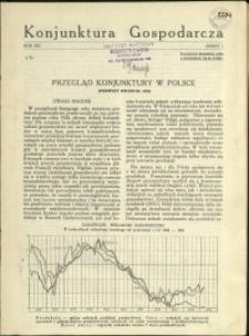 Konjunktura Gospodarcza : 1935 : nr 1