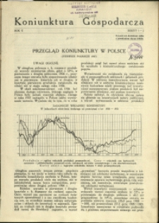 Koniunktura Gospodarcza : 1937 : nr 1-2