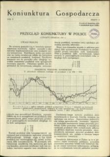 Koniunktura Gospodarcza : 1937 : nr 4