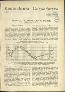 Koniunktura Gospodarcza : 1938 : nr 1