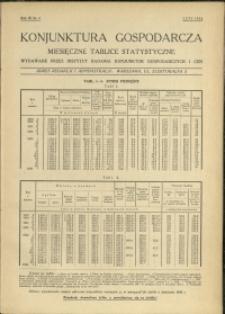 Konjunktura gospodarcza : Miesięczne Tablice Statystyczne : 1934 : nr 2