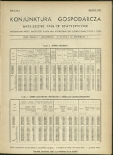 Konjunktura gospodarcza : Miesięczne Tablice Statystyczne : 1935 : nr 3