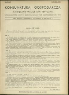 Konjunktura gospodarcza : Miesięczne Tablice Statystyczne : 1935 : nr 7