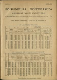 Koniunktura gospodarcza : Miesięczne Tablice Statystyczne : 1938 : nr 3