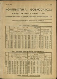 Koniunktura gospodarcza : Miesięczne Tablice Statystyczne : 1937 : nr 2