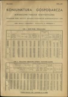 Koniunktura gospodarcza : Miesięczne Tablice Statystyczne : 1937 : nr 7