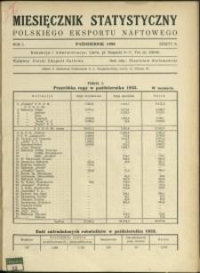 Miesięcznik Statystyczny Polskiego Eksportu Naftowego : 1933 : nr 6