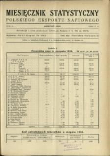 Miesięcznik Statystyczny Polskiego Eksportu Naftowego : 1934 : nr 8