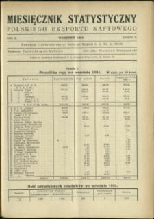 Miesięcznik Statystyczny Polskiego Eksportu Naftowego : 1934 : nr 9