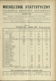 Miesięcznik Statystyczny Polskiego Eksportu Naftowego : 1934 : nr 12