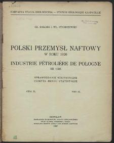 Polski przemysł naftowy w roku 1926 : Sprawozdanie statystyczne Izby Pracodawców w Przemyśle Naftowym w Borysławiu