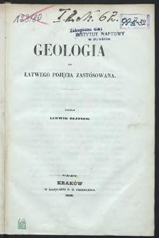 Geologja do łatwego pojęcia zastósowana