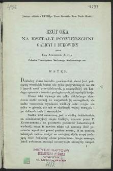 Rzut oka na kształt powierzchni Galicyi i Bukowiny