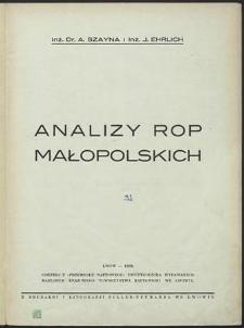 Analizy rop małopolskich