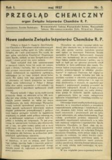 Przegląd Chemiczny : organ Związku Inżynierów Chemików RP : 1937 : nr 5