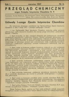 Przegląd Chemiczny : organ Związku Inżynierów Chemików RP : 1937 : nr 6
