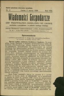 Wiadomości Gospodarcze Izby Przemysłowo-Handlowej we Lwowie : 1929 : nr 5