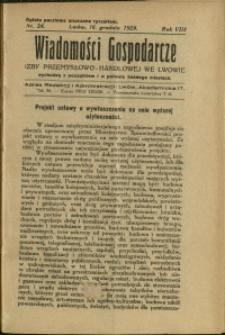 Wiadomości Gospodarcze Izby Przemysłowo-Handlowej we Lwowie : 1929 : nr 24