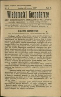 Wiadomości Gospodarcze Izby Przemysłowo-Handlowej we Lwowie : 1931 : nr 6