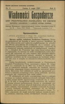 Wiadomości Gospodarcze Izby Przemysłowo-Handlowej we Lwowie : 1931 : nr 9