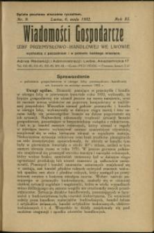 Wiadomości Gospodarcze Izby Przemysłowo-Handlowej we Lwowie : 1932 : nr 9