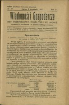 Wiadomości Gospodarcze Izby Przemysłowo-Handlowej we Lwowie : 1932 : nr 17