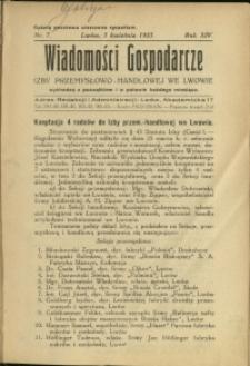 Wiadomości Gospodarcze Izby Przemysłowo-Handlowej we Lwowie : 1935 : nr 7